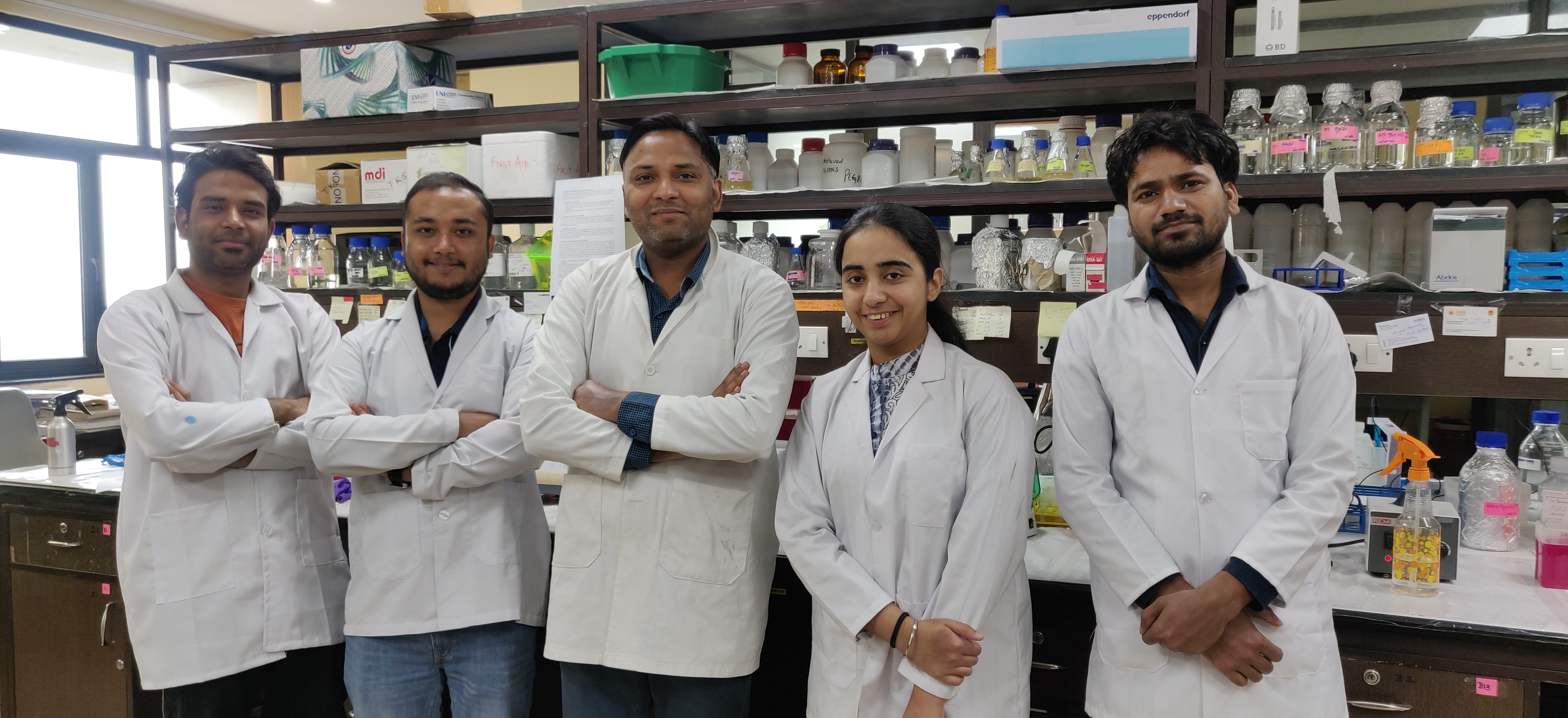 Dr Tarun's lab team